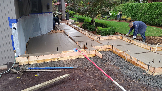 Eugene oregon s concrete contractors rgs contracting for What temperature to pour concrete outside