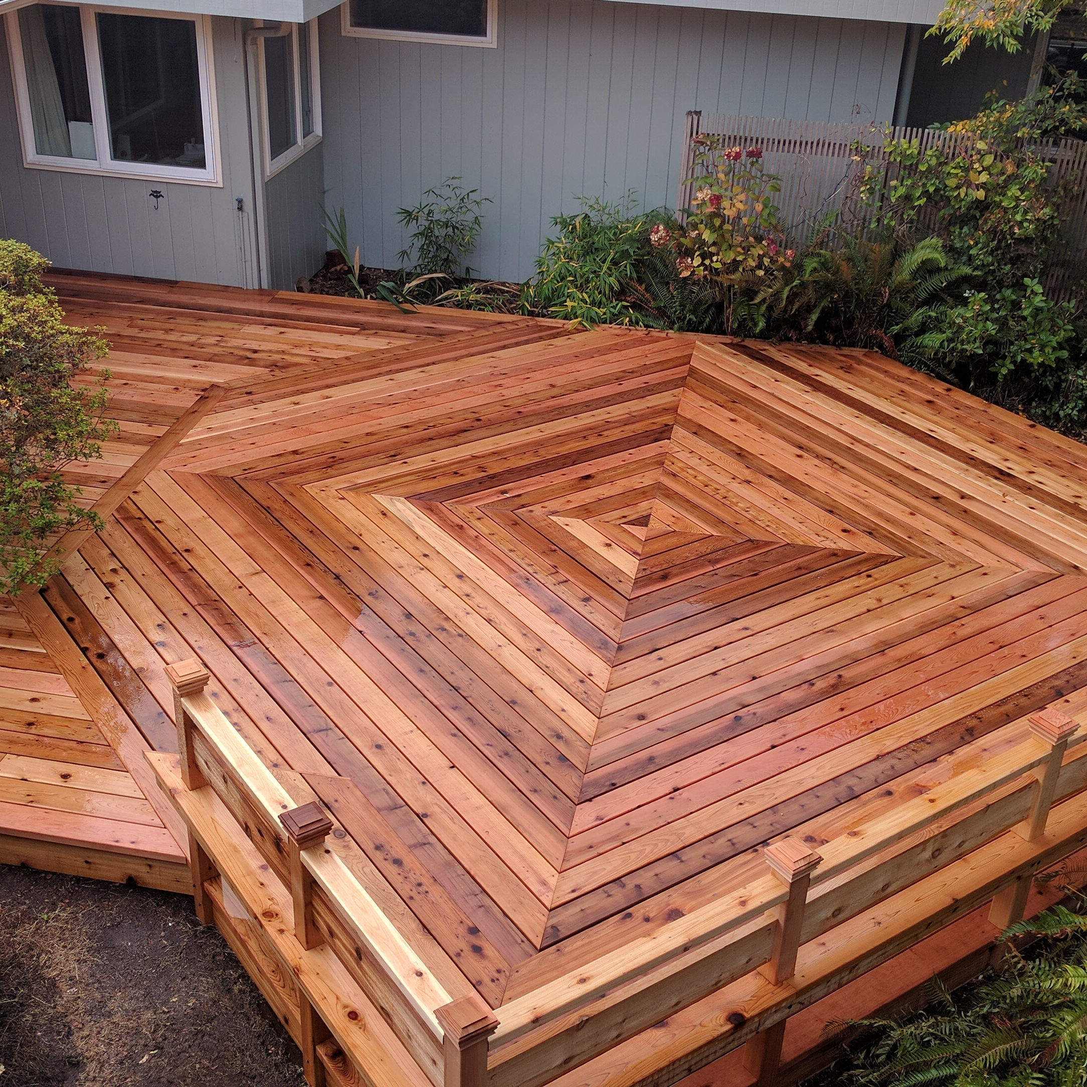 Wood wooden deck tiles what are deck tiles diy for Cedar decks pros and cons
