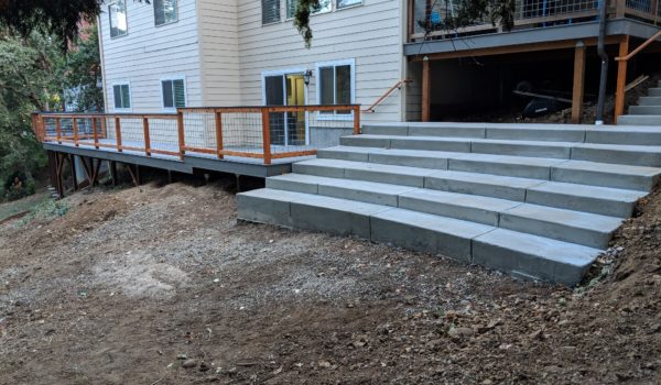 Chandler Ave Retaining Wall And Deck
