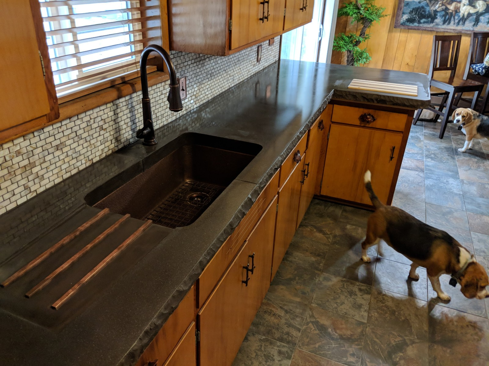 Rustic Concrete Kitchen Counter